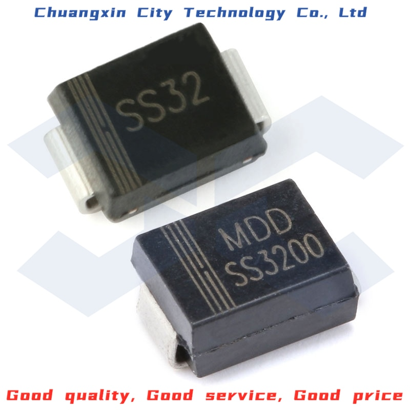 10PCS 100% New&Original SMD SS32 SS34 SS36 SS310 SS3200 DO-214AC 20V/40V/60V/100V/200V 3.0A SMB Schottky diode 10pcs sr5100 schottky diode