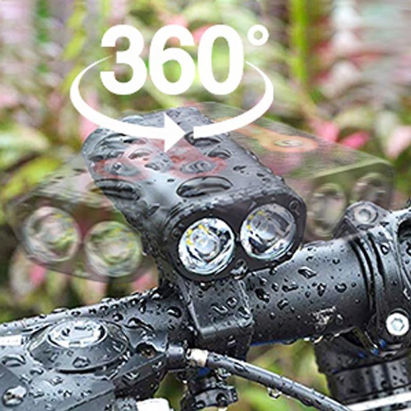 Linterna frontal para bicicleta Y10, LED, máxima de 650LM, para ciclismo, T6 18650, recargable vía USB, 5 modos de lámpara