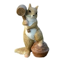 Sculpture en resine decureuil trois freres  joli et gratuit  petits ornements creatifs pour la maison  chambre denfants  cadeau de decoration de jardin