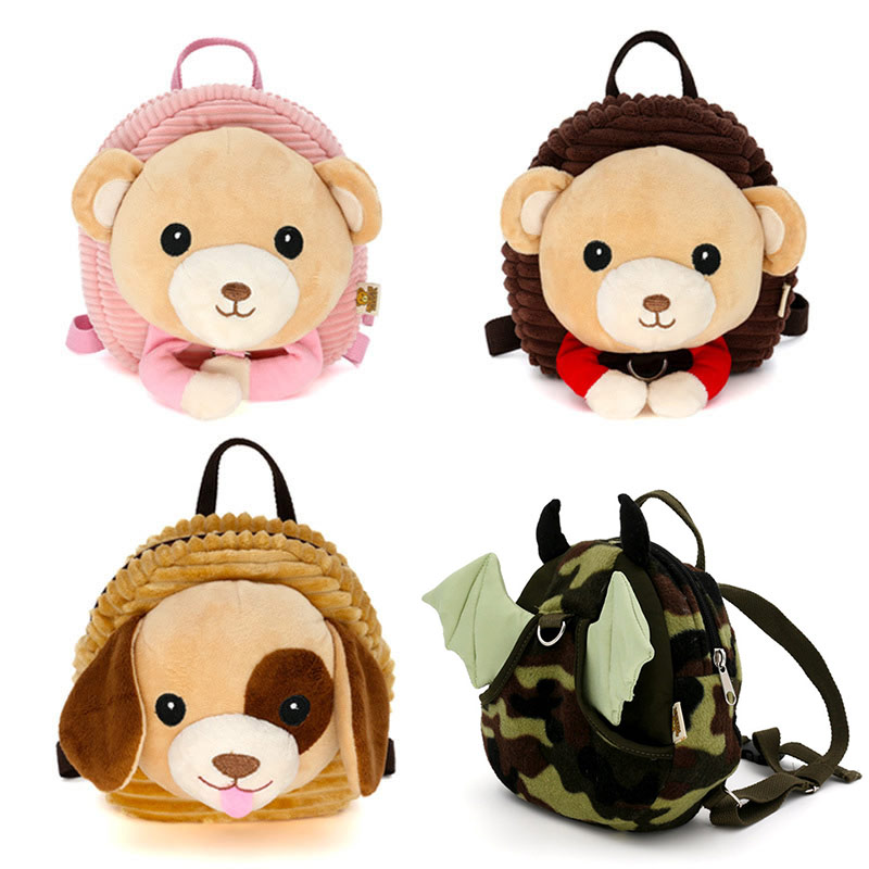 Anti-lost Children Backpack Cartoon Animal Plush Backpack With 100cm Traction Rope Infant Baby Safety Harness Walker Strap M0316