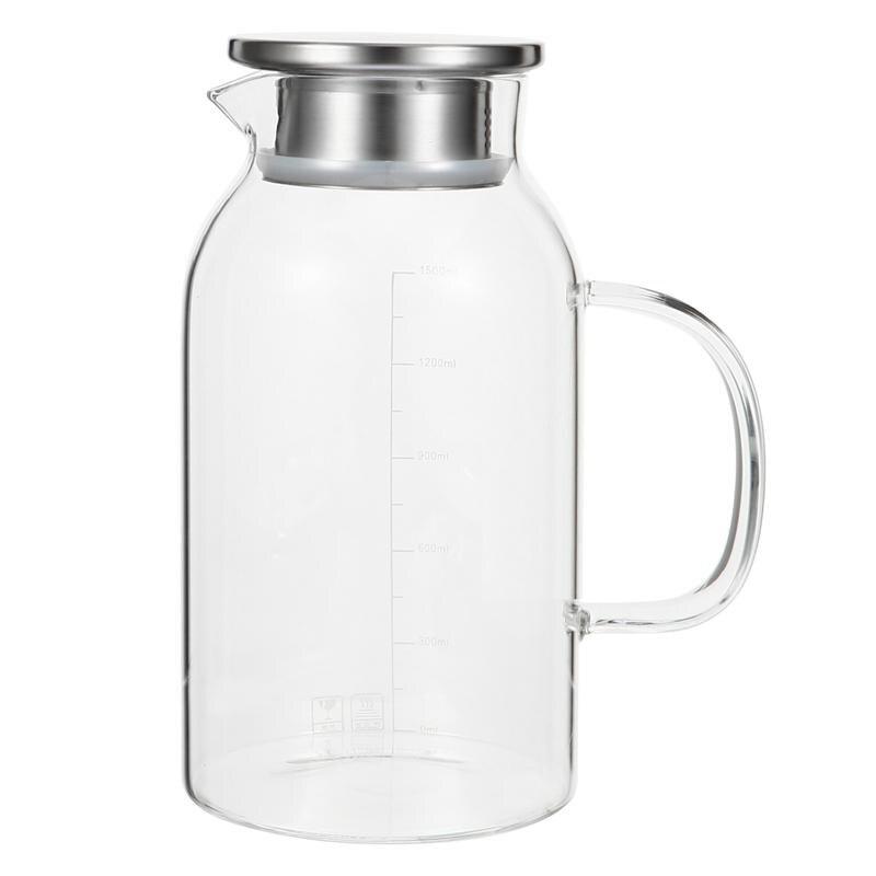 1 قطعة 1800 مللي الزجاج غلاية الماء البارد إبريق الماء غلاية الماء الشفاف عصير براد شاي براد مياه باردة إبريق
