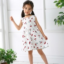Children Girl Dress Summer Child Girls Clothing Cotton Sleeveless Flower Kids Summer Dresses For Bab