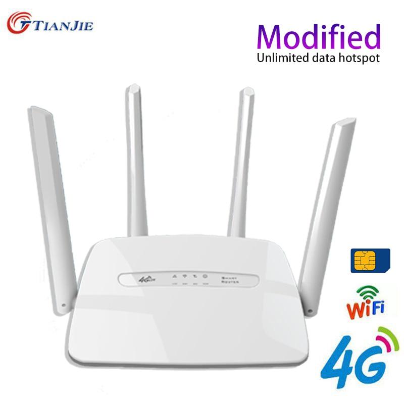 Lte 3g 4g wifi roteadores lan-port cpe suporte-antenas de cartão sim 300mbps desbloqueado portátil fdd roteador sem fio hotspot móvel-wifi