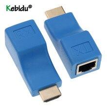4k HDMI совместимый удлинитель RJ45 порты удлинитель для локальной сети HDMI совместимый до 30 м более CAT5e / 6 hotUTP LAN Ethernet Кабель