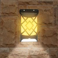 Настенный светильник на солнечной батарее, светодиодная лампа для сада и улицы, водонепроницаемые наружные светильники