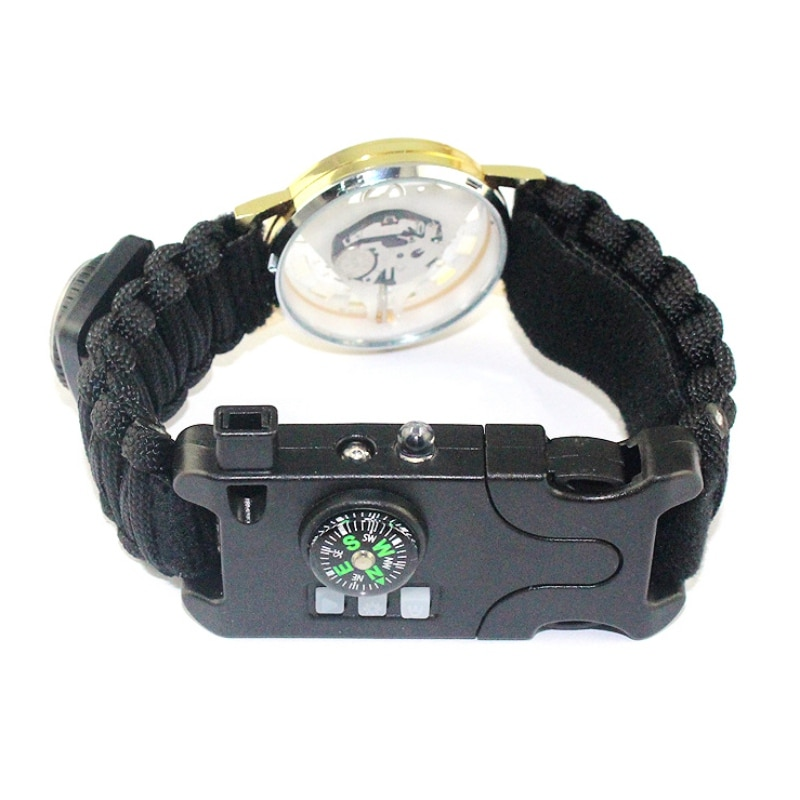 Wholesale Bracelet Field Survival Outdoor Camping Rescue Rope Watch Compass Camping Emergency Bracel