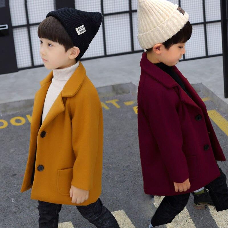 ¡Producto en oferta! Abrigo de lana para niños de 1-5 años, ropa para niños, abrigo de lana para niños, moda de otoño e invierno de nogal. ins