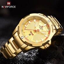 NAVIFORCE Luxury Men's Sports Watches Waterproof Stainless Steel Analog Quartz Wristwatch Fashion Bu