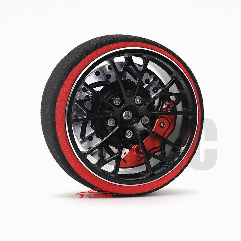 AJRC Black Red Metal remote control handwheel for SANWA MT4 MT4S M11X M11 MX-V Steering wheel enlarge