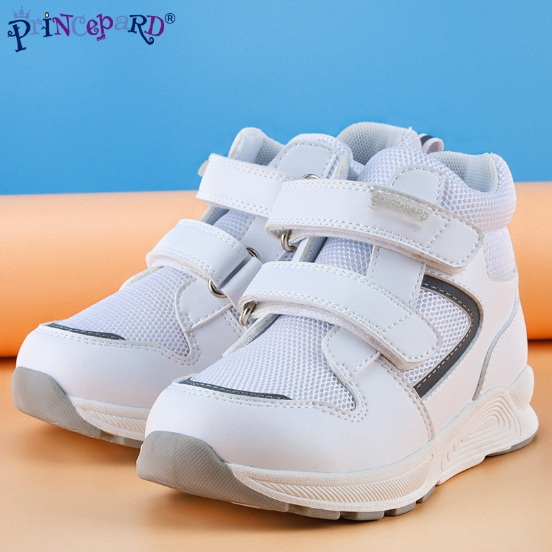 Princepard Outdoor Children Orthopedic Shoes Leather Other Function Shoes Autumn White Sneaker Shoes enlarge