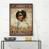 black nurse nursing poster they whispered to her you cannot withstand the storm wall art prints home decor canvas floating frame