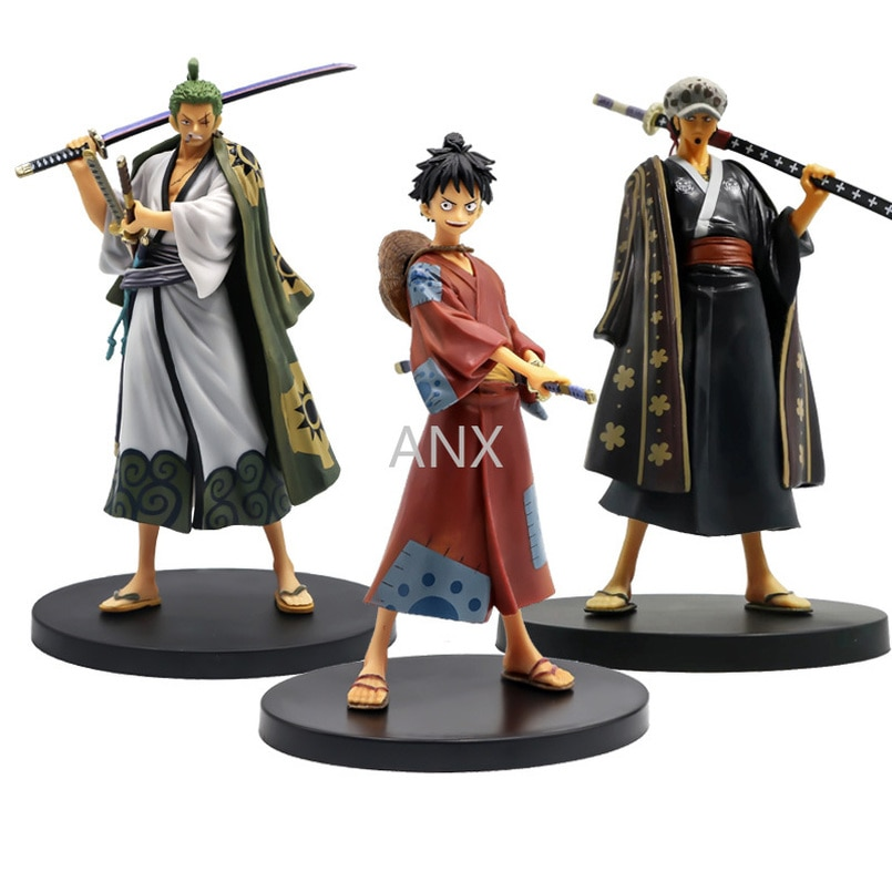 17CM One Piece Luffy Zoro Law Figure PVC Action Anime Figure Model Toys Model Toys Collection Doll Gifts Monkey D Luffy 15cm anime one piece figure combat version marshall d teach figure toys collection pvc action figure one piece toys model gifts