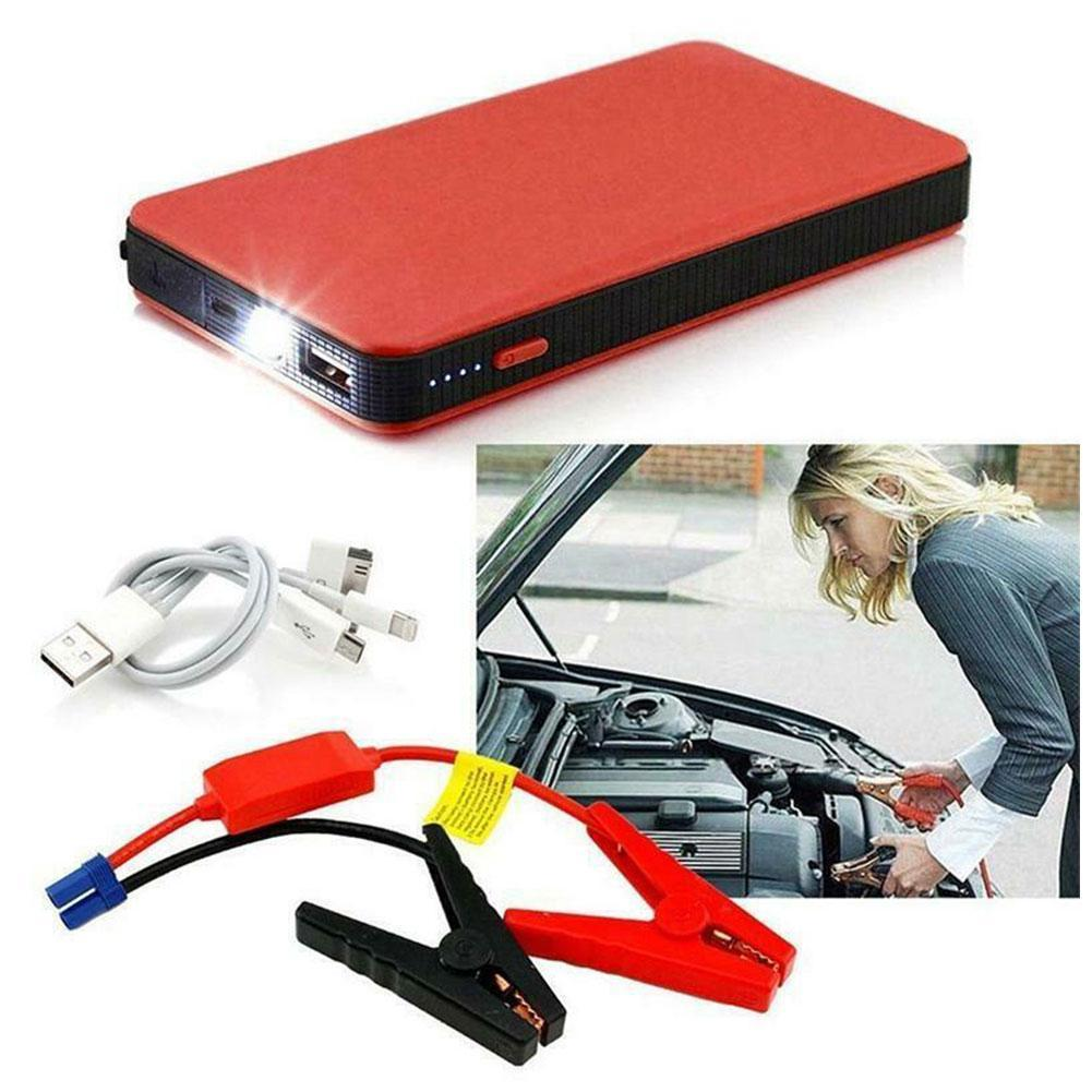 New Portable Mini Slim 20000mAh Car Jump Starter Power Bank 12V Engine Battery Charger Booster Car B
