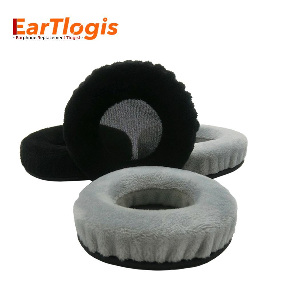 Eartlogis veludo substituição almofadas para akg k240 k270 k 240 270 fone de ouvido peças earmuff capa almofada copos travesseiro