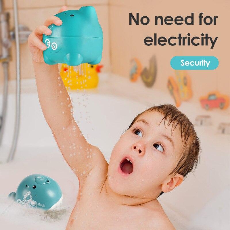 Детская игрушка для ванны, Детская образовательная игрушка в виде водного милого слона для детей, мальчиков и девочек, веселая игрушка из вс...