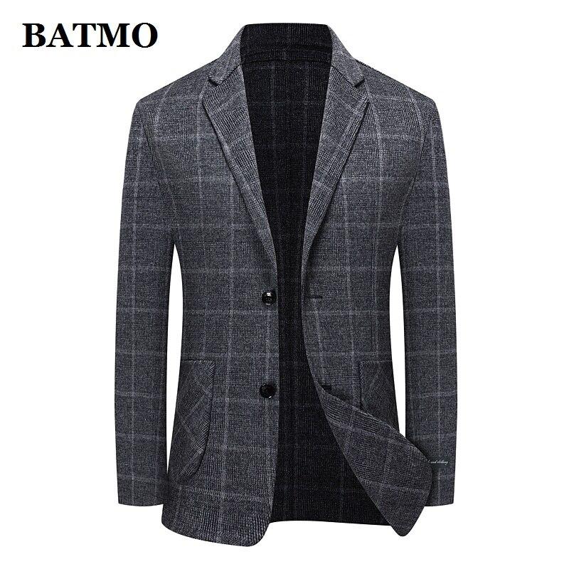 BATMO 2021 جديد وصول الخريف الصوف منقوشة سترة الرجال عادية ، بدلة رجالي سترة بليزر حجم كبير M-XXXL 178