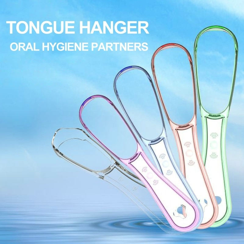 1Pc Tongue Scraper Stainless Steel Oral Cleaners High Quality  Brush Cleaner Remove Bad Breath Hygiene