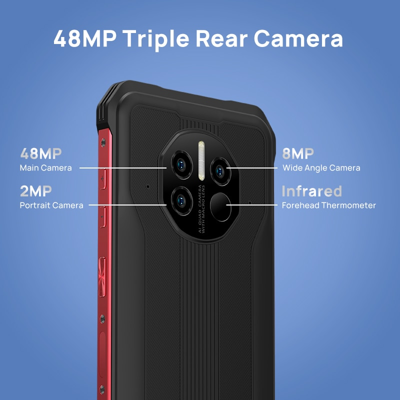 DOOGEE V10 Dual 5G Global Version Rugged Phone 8500mAh Battery 48MP Rear Camera 6.39