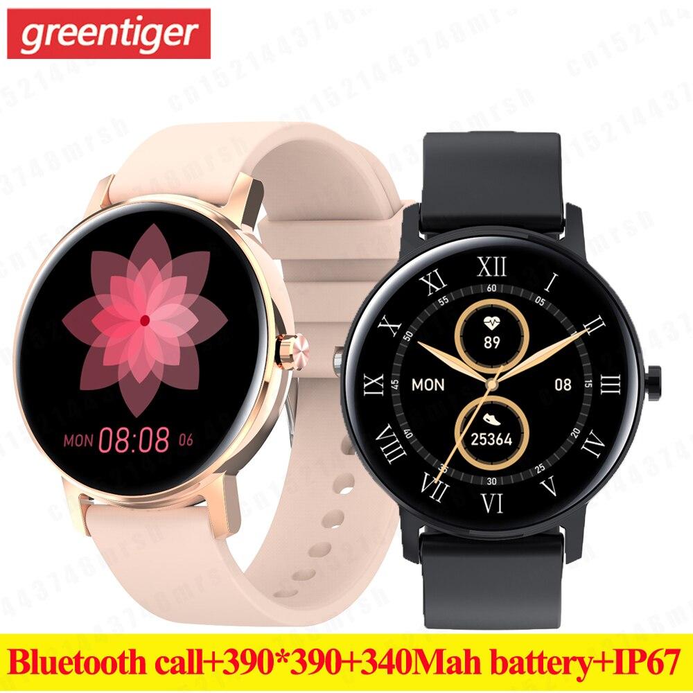 L01 Bluetooth Anruf Smart Uhr Männer 390*390 Amoled Voll Touchscreen Smartwatch Herz Rate Monitor Sport Armbanduhr PK SG2 SG3. Smart Watches    -