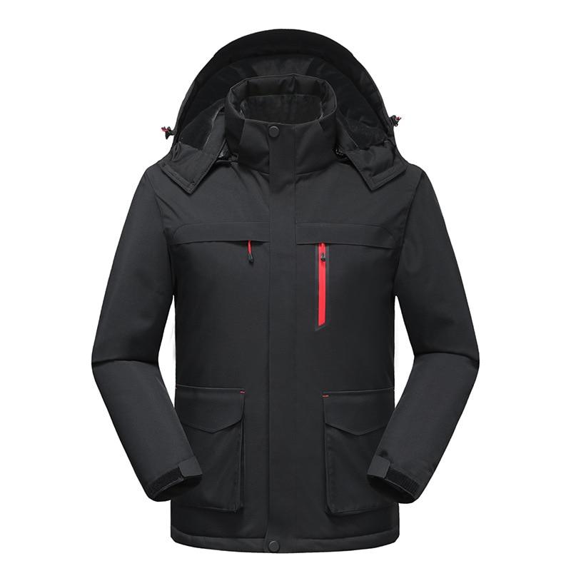 Windproof Ski Clothes Men Equipment Suit Overalls Snowboard Jacket Puffer Coat Ski Costume Ropa Nieve Protective Gear BJ50HX