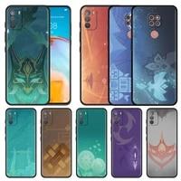 genshin impact icon silicone phone case for motorola g9 play g10 g30 one fusion g 5g plus g8 power lite e6s fundas cover coque