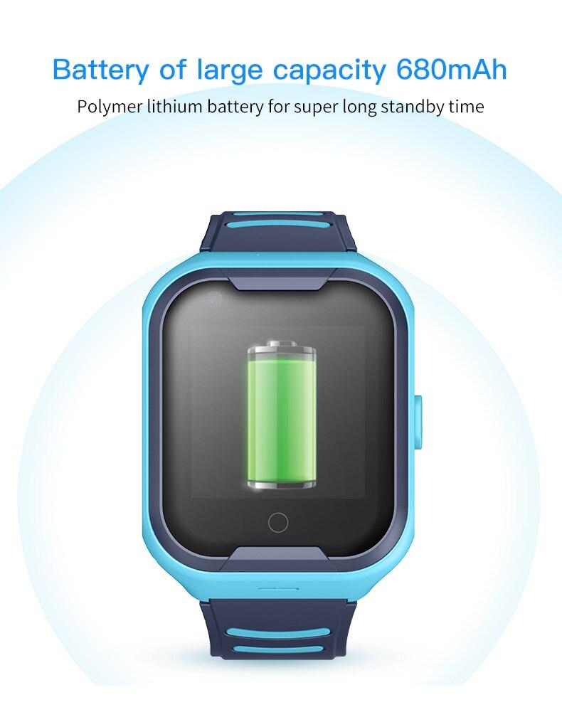 A36E الاطفال ساعة ذكية 4G لتحديد المواقع واي فاي SOS مكالمة فيديو IP67 مقاوم للماء كاميرا بمنبه ساعة ذكية لتتبع الأطفال الاطفال الهاتف Smartwatch