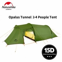 naturehike camping tent opalus tunnel 2 4 persons 4 seasons tent ultralight waterproof 15d20d210t fabric tourist tent with mat