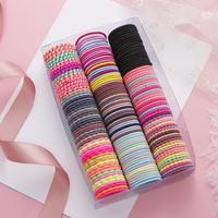 Women Kids Girls' Elastic Hair Band 50pcs/pack 3cm Colorful Hair Ties Ropes Scrunchy Ponytail Rubberbands Tie Gum Accessories