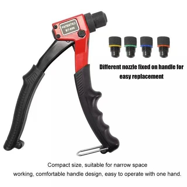 BT603 ручной заклепочный гайковерт, экономичный ручной Клепальный Инструмент 200 мм