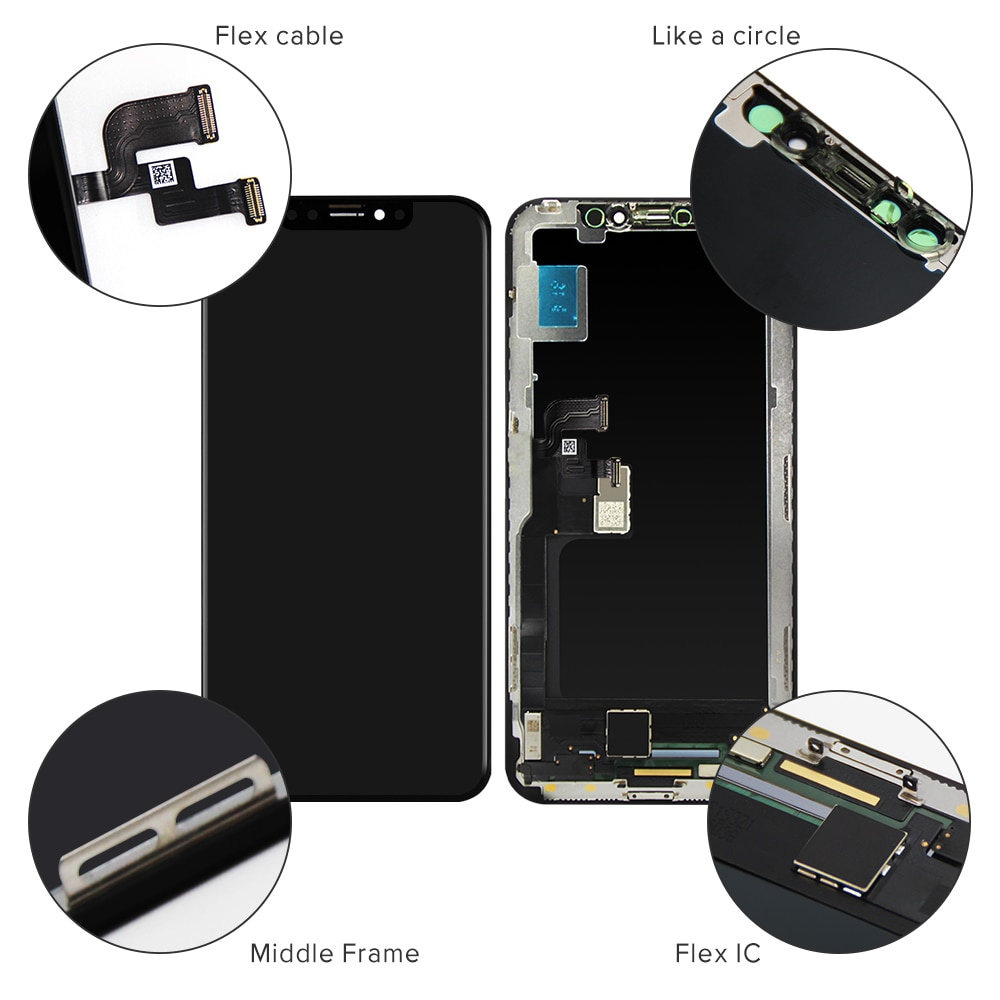 Grade AAA Quilty OLED For iPhone X XR XS LCD Display Replacement Screen With Touch Digitizer Assembly Free Shipping enlarge
