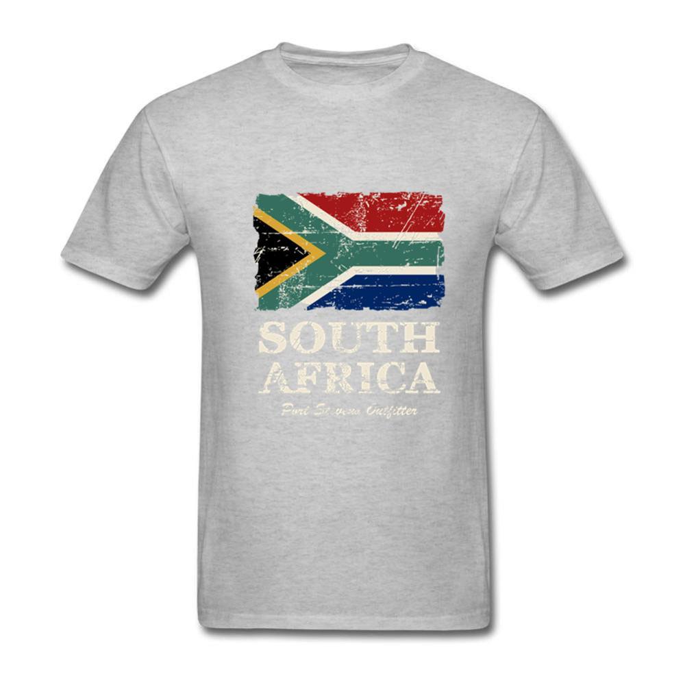 2020 nueva bandera de Sudáfrica, Camiseta corta para hombres, camiseta Casual con cuello de rosca de algodón puro 3XL, nueva marca del Día de la Nación, camiseta con envío gratis