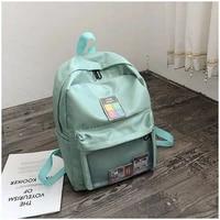ladies fashion nylon transparent waterproof school notebook ipad school bag leisure large capacity outdoor travel backpack