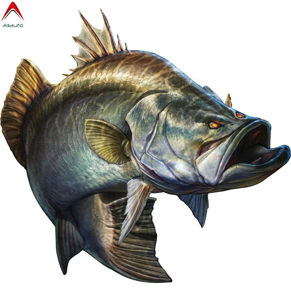 Aliauto Fashion Go Fishing Troops Car Sticker Big Fish Boat Kayak Automobiles & Motorcycles Decoration Vinyl Decal,20cm*19cm