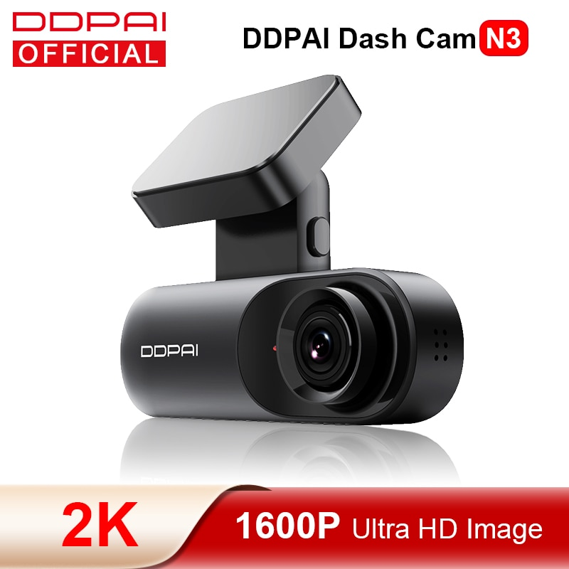 DDPAI Dash Cam Mola N3 1600P HD GPS Vehicle Drive Auto Video DVR 2K Smart Connect Android Wifi  Car Camera Recorder 24H Parking
