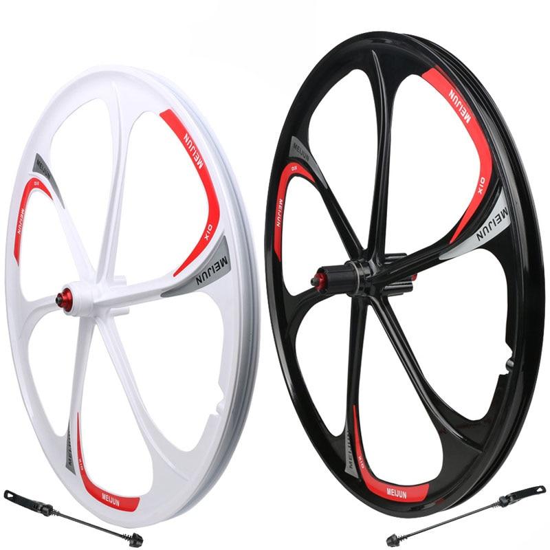 Rueda de bicicleta de montaña de 26 pulgadas, rueda de 6 radios de aleación de aluminio y magnesio, rueda de liberación rápida, ruedas de bicicleta de aleación ligeras