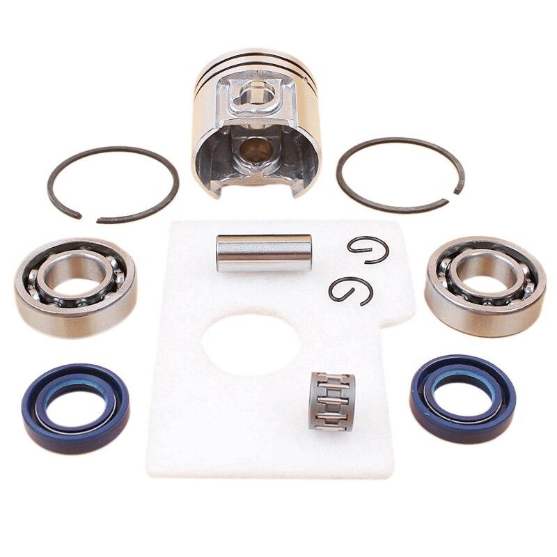 Мотор поршень коленчатого вала сальник подшипника воздушный фильтр комплект для Stihl Ms180 Ms 180 018 бензопила запасные части 38 мм