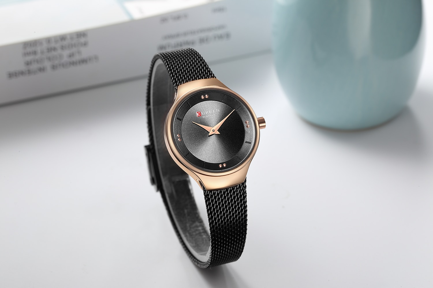 CURREN Top Brand Women's Watches Creative Design Wristwatch Exquisite Waterproof Stainless Steel Lady Watch Gift Zegarki Damskie enlarge