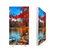 mobile aluminum seg led back lit display fabric light box frame 1x2m frameless led light box