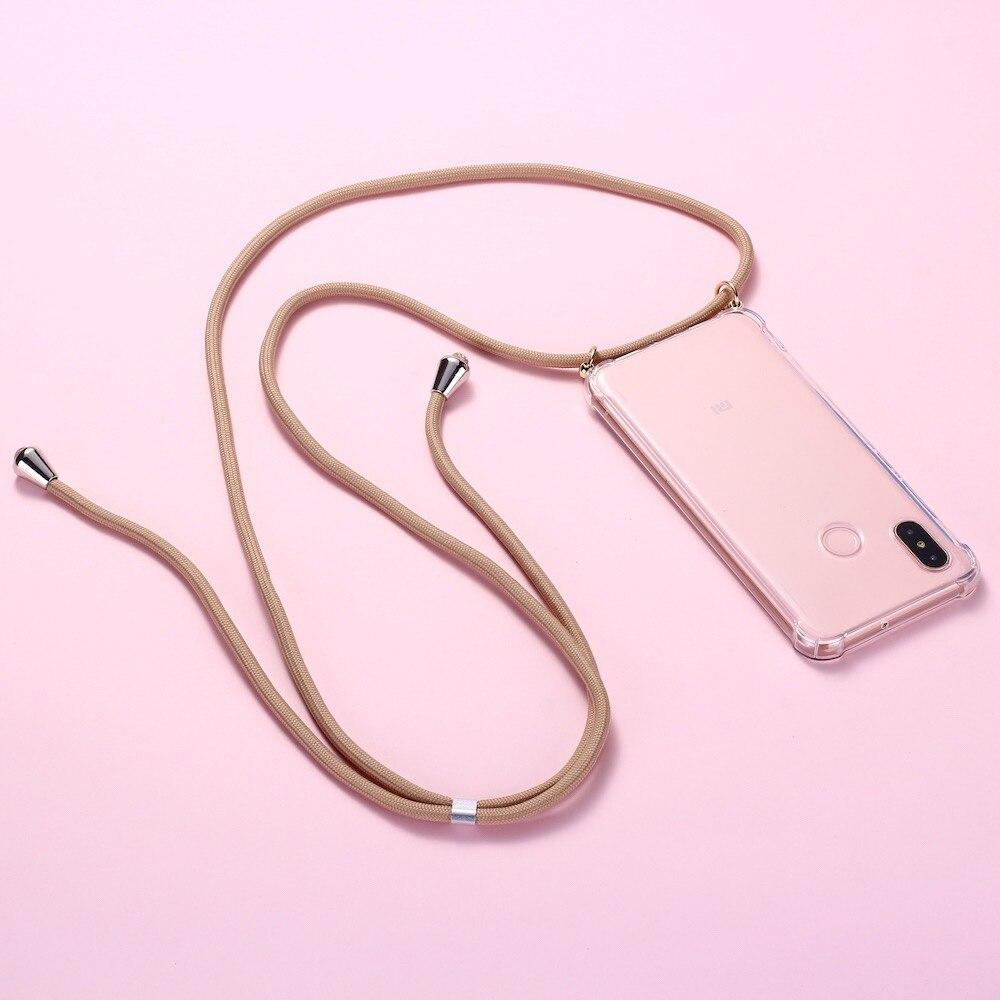 רצועת כבל שרשרת טלפון קלטת שרשרת שרוך נייד טלפון מקרה לנשיאה כדי לתלות לשיאו mi mi אדום mi 3 5 6 7 8 9 A3 9T K20 6A A2