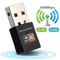 Беспроводной USB WiFi адаптер 600 Мбит/с wi-fi ключ ПК сетевая карта двухдиапазонный wifi 5 ГГц адаптер Lan USB Ethernet приемник AC wi-fi