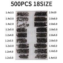 500Pcs 18 Types Mini Screw DIY Kit Micro Laptop Computer Sunglass Watch Phone Tablet Repair Screw To