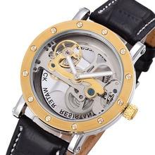 2020 Creative Transparent Watches Men Flywheel Tourbillon Automatic Mechanical Wristwatches Leather