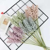 6 pieces foam lavender artificial plant home decoration diy living room fake flowers diy bonsai floral bouquet candy box wedding