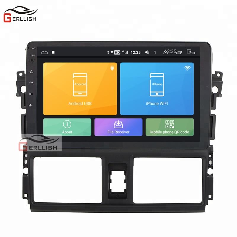 Pantalla táctil reproductor dvd android para el coche audio estéreo para Toyota Yaris Vios 2014, 2015, 2016, 2017 de navegación gps