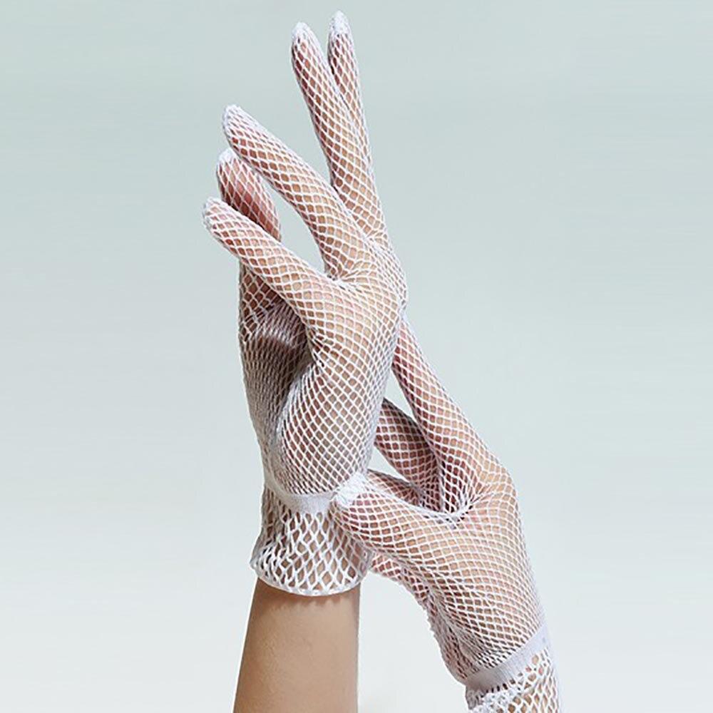 Fishnet Gloves Women Summer Uv-proof Driving Gloves Mesh Womens Gloves Gothic Solid Thin Punk Rock C