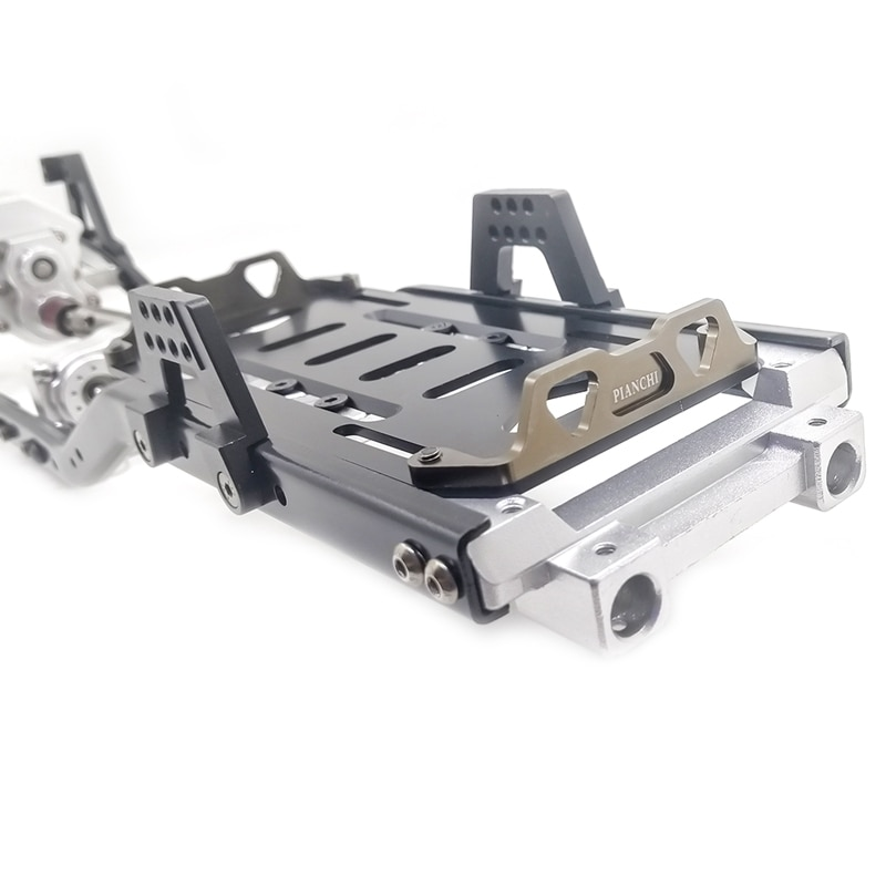 31m 12.3 Wheelbase Metal Frame Front Gearbox CNC Chassis Frame for 1/10 RC Crawler Car Axial SCX10 enlarge