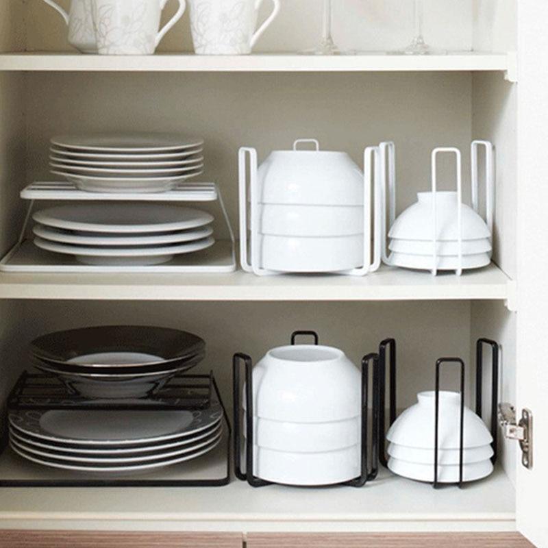 Japanese-Style Drain Dish Rack Storage Shelf Metal Drawer Drying Bowl Racks Home Accessories Kitchen Cabinet Organizer