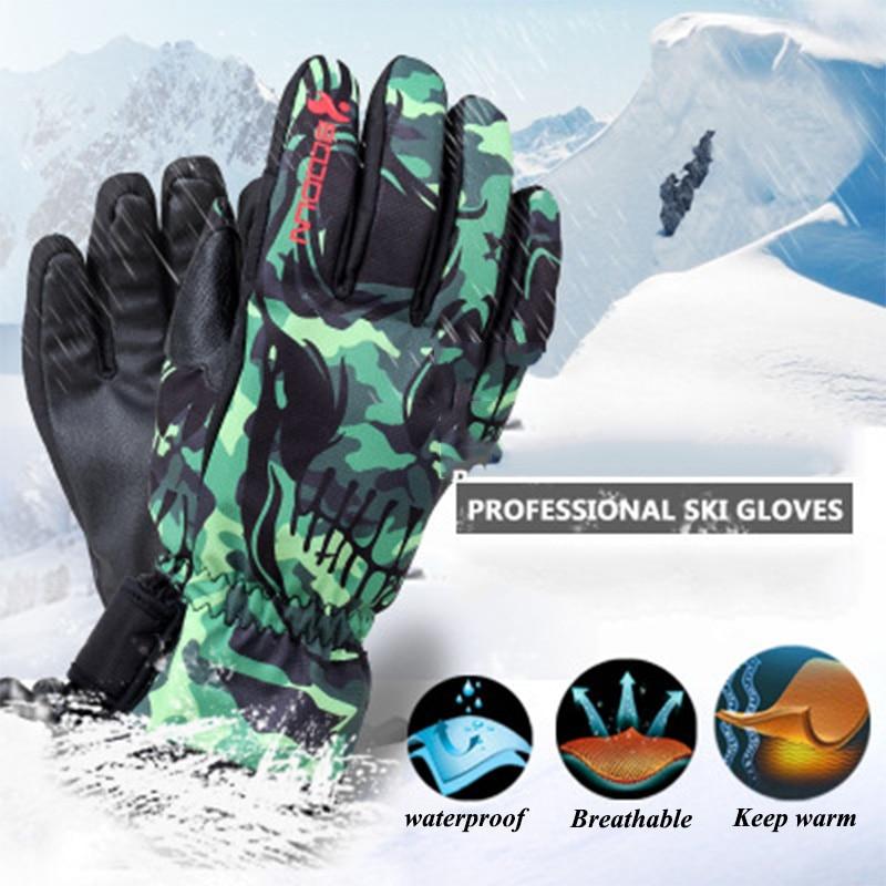 Boodun Winter Long Finger Cycling Gloves Thermal Waterproof Snowboard Bike Gloves Snow Ski Windproof Degree Riding Bicycle Glove enlarge