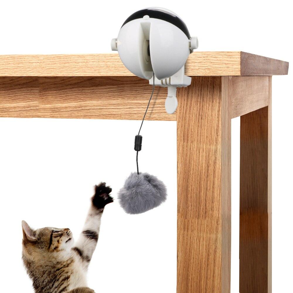 Электрический Автоматический подъемный плюшевый шарик, игрушка-головоломка, Умный кот мяч для питомца, питательная интерактивная игрушка ...