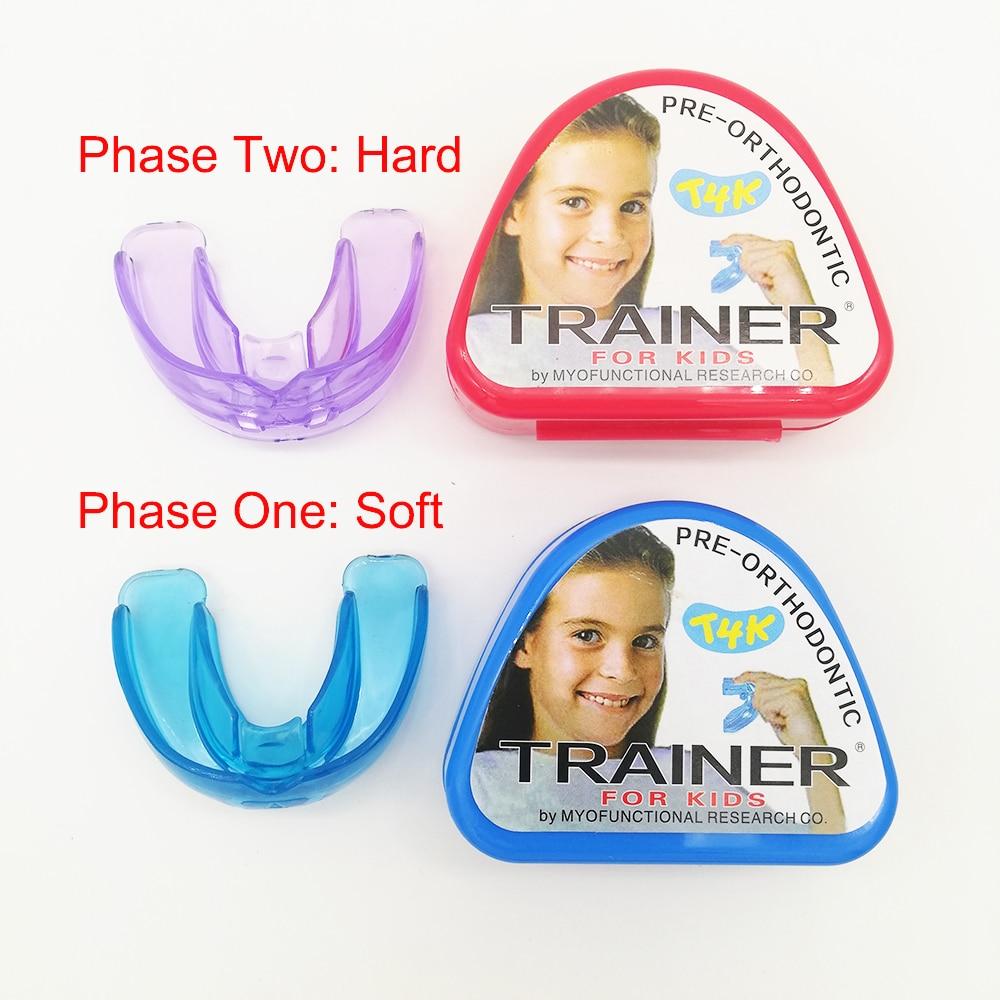 1-セット-t4k-子供歯科歯列矯正器具トレーナー子供のための歯アライメントはマウスピース相ソフトとハード